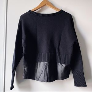 Banana Republic black crewneck long sleeve sweater